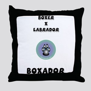 Boxador Throw Pillow